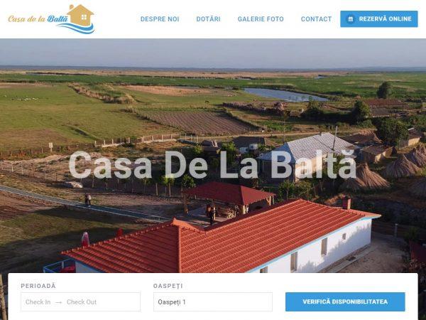 Pensiunea Casa de la Baltă - web design
