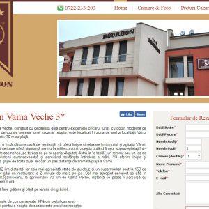 Cazare Bourbon Vama Veche - web design
