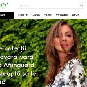 Cleo Boutique - web design