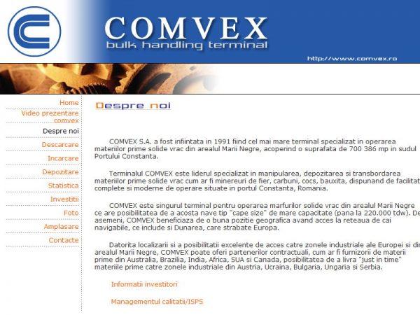 Comvex - web design