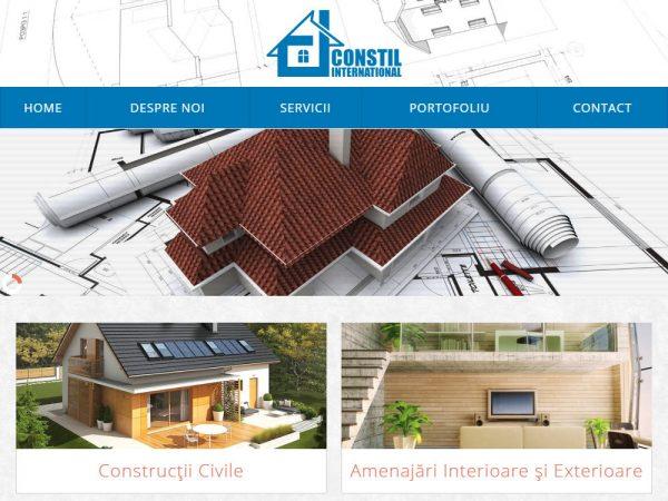 Constil International - web design