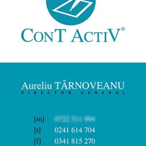ConT ActiV - carte vizită