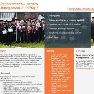 Departamentul pentru Managementul Calității - web design