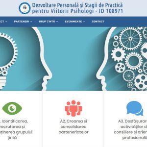 Dezvoltare Personală și Stagii de Practică pentru Viitorii Psihologi - web design