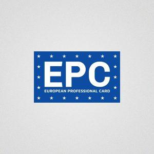 European Professional Card - logo design