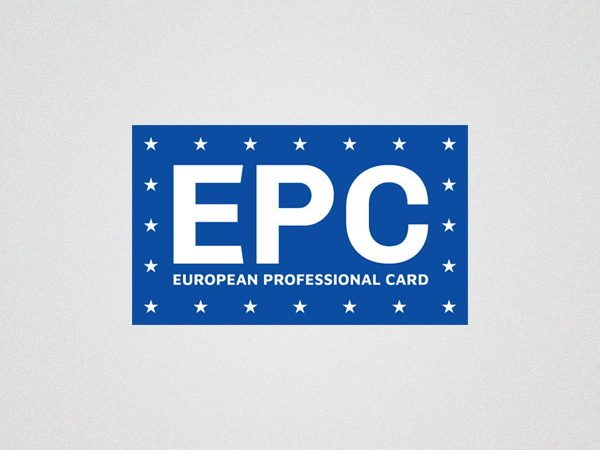 European Professional Card - logo design