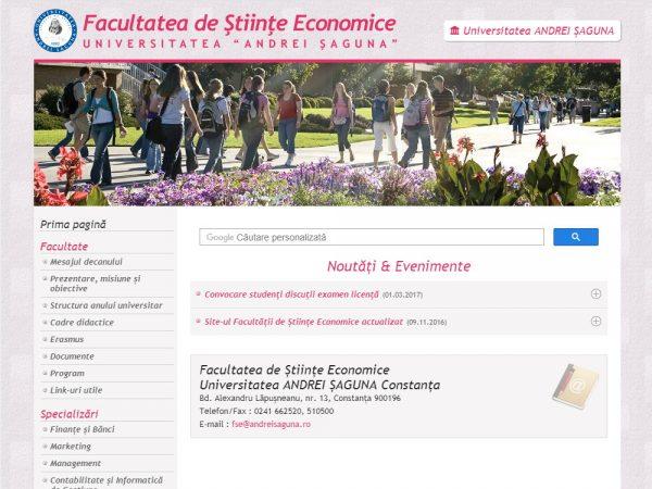 Facultatea de Științe Economice Universitatea Andrei Șaguna - web design