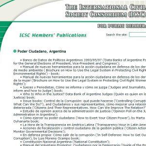 The International Civil Society Consortium - web design