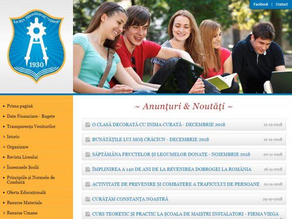 Liceul Tehnologic Tomis - web design