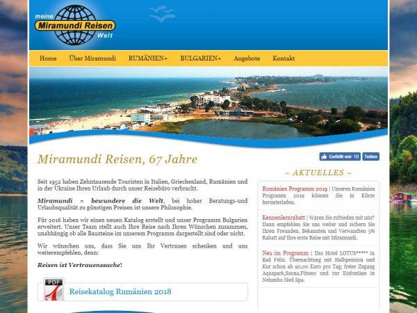 Miramundi Reisen - web design