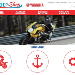 Motoshop - web design