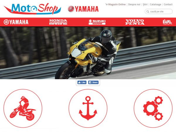 Motoshop - web design