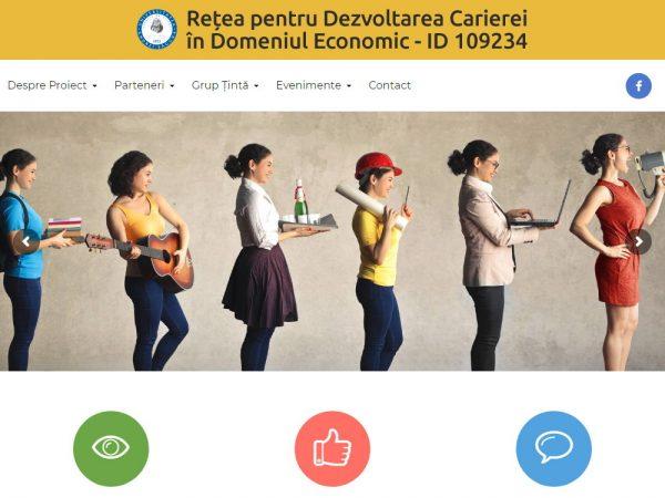 Rețea pentru Dezvoltarea Carierei în Domeniul Economic - web design