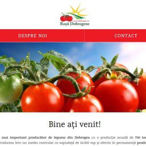 Roșii Dobrogene - web design