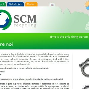 SCM Recycling - web design