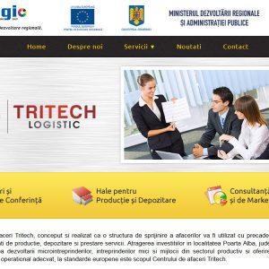 Tritech Logistic - web design