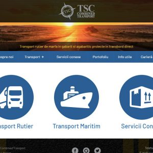 TSC Combined Ttransport - web design