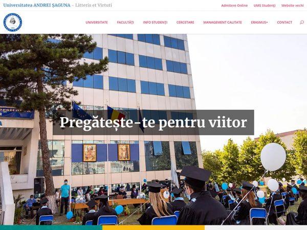 Universitatea Andrei Șaguna - web design